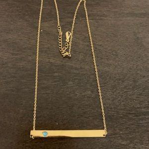 Jewelry - Dainty Bar Necklace with Stone